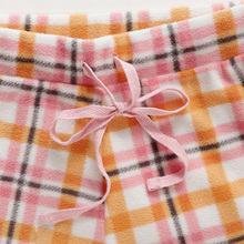 Plaid song Riel autumn and winter fashion sweet long sleeved fleece pajamas home service package Ms
