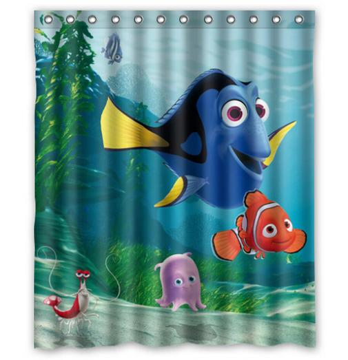 finding nemo cute cartoon sample moden shower curtain