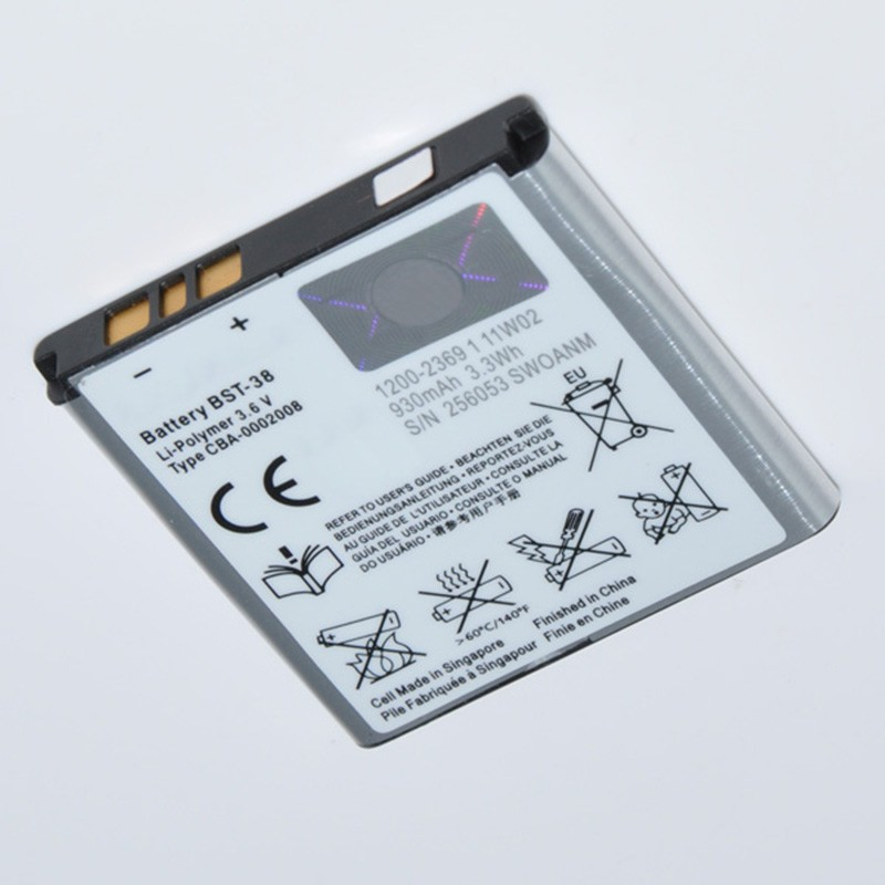100% New Original OEM Replacement Battery BST-38 For Sony Ericsson U20i W580c W580i S500i W980 W995 900mAh(China (Mainland))