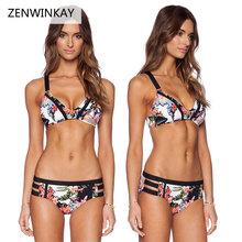 Buy 2017 Female Print Bathing Suit Vintage Retro Swimsuit Women Summer Beach Wear Swim Suit Women Flowers Halter Bikini Set S M L XL for $11.99 in AliExpress store