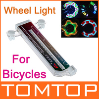 Colorful Rainbow 32 LED Wheel Signal Lights for Bikes Bicycles Fixed on Cycle Spoke H8761 Freeshipping Dropshipping Wholesale