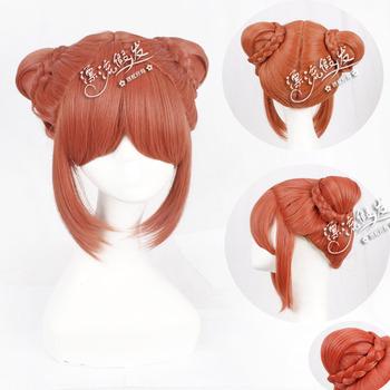 GINTAMA Kagura High Temperature Silk Double Bun Synthetic Hair Cosplay Wig