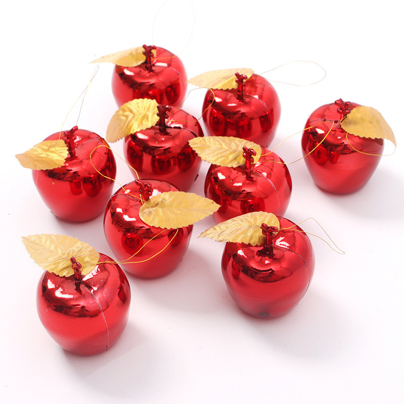 Christmas decoration 12pcs apples christmas tree hanging for Apples decoration
