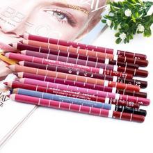 12 PCs/Set Fashion Women's Professional Waterproof Lip Liner Pencil Long Lasting 15CM Lip liner pen makeup(China (Mainland))