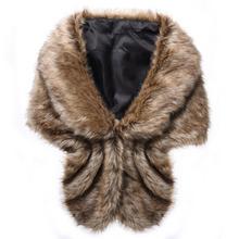 Newly design fur shawl thick faux fur scarf imitated rabbit fur cape winter women warm fur pashmina(China (Mainland))