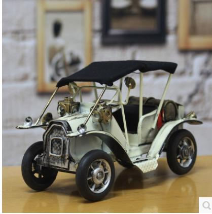 Creative vintage tin auto restoring ancient ways continental antique car model household decoration furnishing articles(China (Mainland))