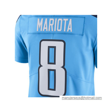 Wholesale Men's Marcus Mariota #8 Jersey Adult Murray Light Blue Color Rush Limited DeMarco Jersey Embroidery Logos Free Shippin(China (Mainland))
