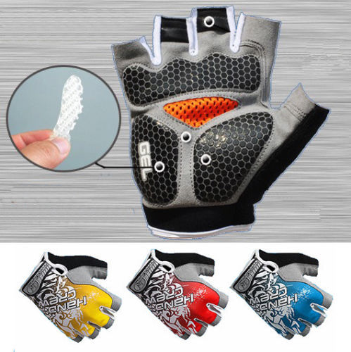 2015 Hot Sale Bike Gloves New Fashion Cycling Bike Bicycle Gel Shockproof Sports Half Finger Glove M-xl 4 Color Options AG2104(China (Mainland))