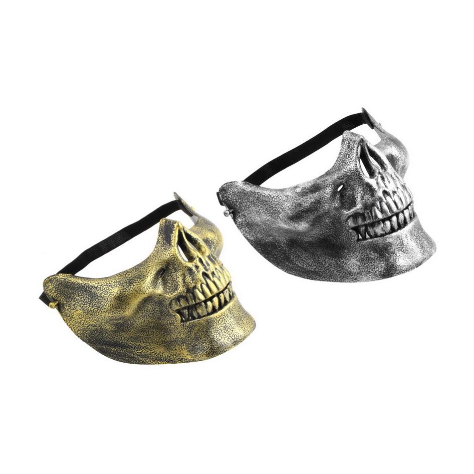 Skull Skeleton Airsoft Game Hunting Biker Half Face Protect Gear Mask Guard Brand New(China (Mainland))