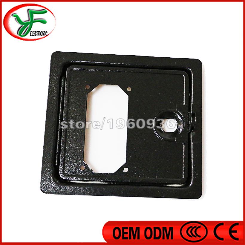 Iron coin box door/up & down door for swing machine/arcade machine cabinet/amusement machine accessories/coin operated game(China (Mainland))