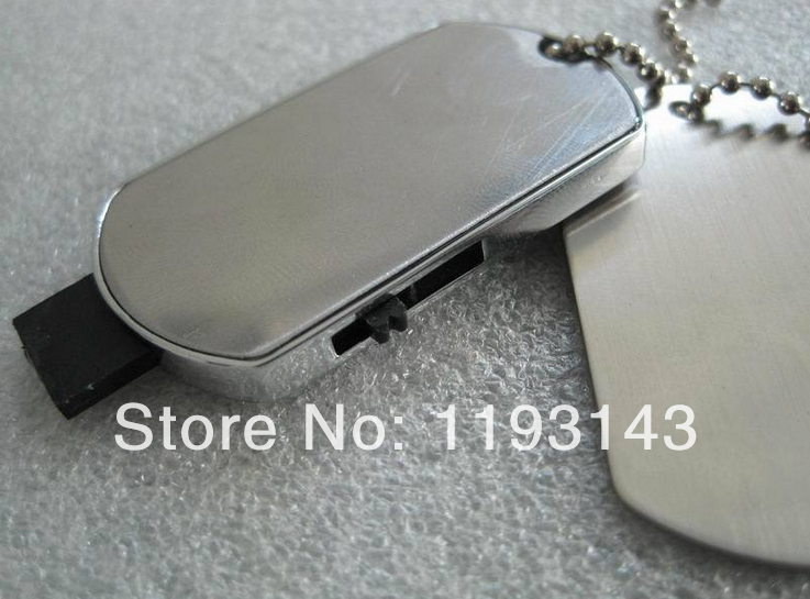 MT60 Free shipping Hot Metal 1GB 4GB 8GB 16GB 32GB Silver Dog Tags u disk USB 2.0 Flash pen drive memory card car key(China (Mainland))