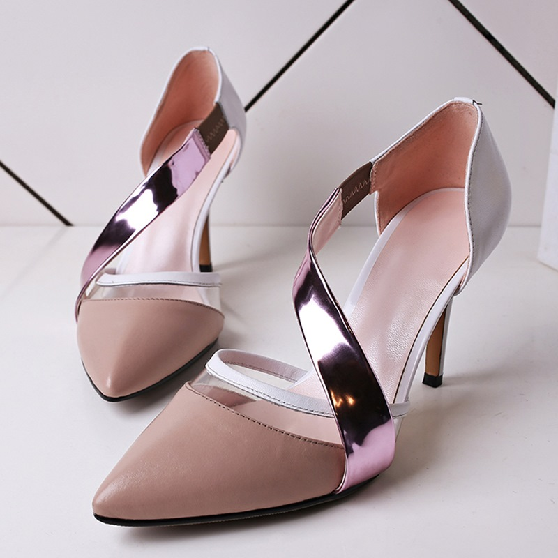 Shoes Woman High Heel 2016 Fashion DOrsay &amp; Two-Piece Pumps Shoes Spring Thin Heels Pointed Toe Women Stilettos Pumps<br><br>Aliexpress