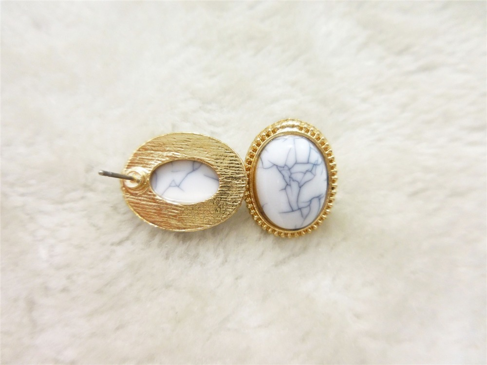 Fashion Claire Fashion Accessories Stud Earring  Set  Natural Stone   Punk  StudS  Earrings  Sweet  Girls Jewelrys