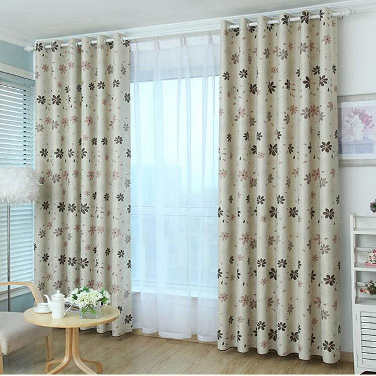 Blackout curtains finished custom living room bedroom balcony sun shades floor bay window short Curtains(China (Mainland))