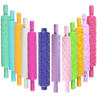 New arrival 2014 Rolling Pin Baking Tool Fondant Cake Craft Mold with Beautiful Pattern for high quality