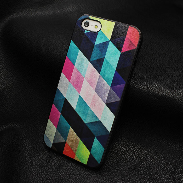 New Arrive Promotion Painted Brilliant Colours hard back cover case Iphone 5 5s W091 - kavinxia's store