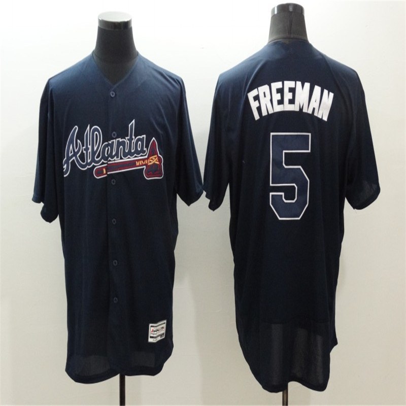 Men's #5 Freddie Freeman Baseball Jerseys Home Road Alternate Flexbase Sewn Jersey(China (Mainland))