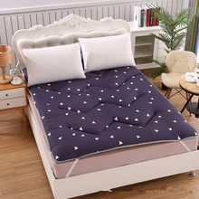 2018 winter bedspread warm Bed pad Patchwork bedcovers printed Camo fleece bedding 3cm thicken bedclothes cotton-padded mattress(China)