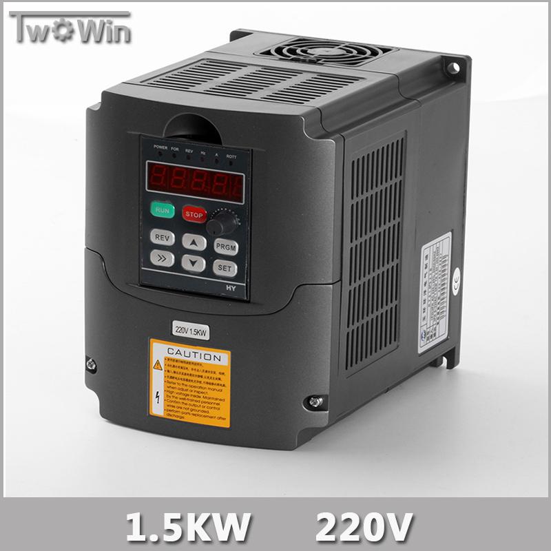 1.5KW Inverter 1.5kw HY VFD Spindle Inverter 220V 1.5kw Frequency Drive Inverter Machine Inverter for 1.5kw spindle.(China (Mainland))