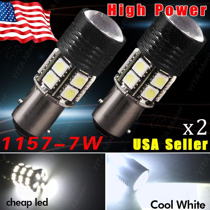 Hot Selling led Car Lights 1157 BAY15D 7W p21w LED Light Bulbs 12V Red Yell White 7W Brake Tail Turn Signal Light Bulb Lamp(China (Mainland))