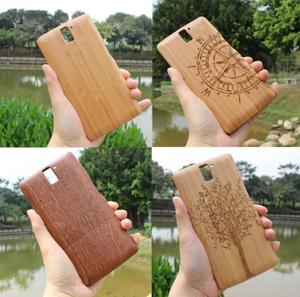 100% Natural Handmade Carving Compass/Tree Wood Bamboo Wooden Hard Case Back Cover For OnePlus One 1+/Free Shipping(China (Mainland))