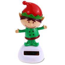Children Wonderful Gift Beautiful Decoration Lovely Solar Shaking Christmas Reindeer Man Environment-friendly Ornamentation(China (Mainland))