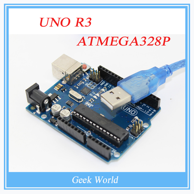 The Latest 100% Brand New~! Factory price UNO R3 ATMEGA328P ATMEGA16U2 + 1PCS USB Cable