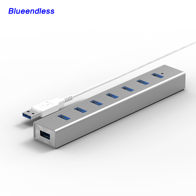 New Arrival! 4 Ports Aluminum with USB cable USB 3.0 HUB for USB Flash Drive/USB Stick/Keyboard/Mouse moblie phone cable H702U3(China (Mainland))