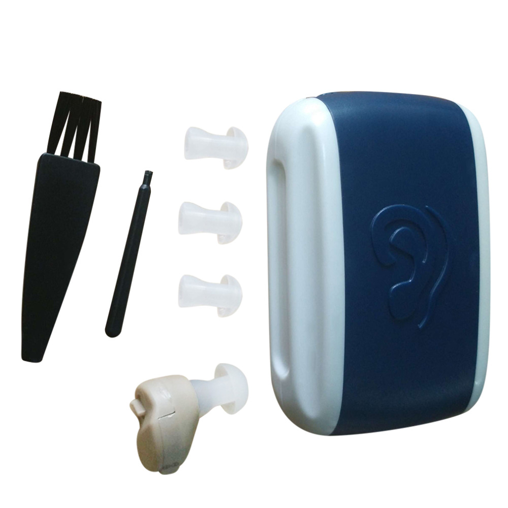 Hot Search New Small In-Ear Voice Sound Amplifier Adjustable Tone Mini Hearing Ear Aid