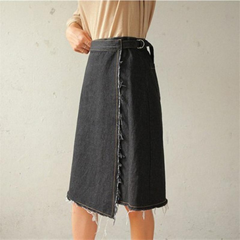 popular colored denim skirts buy cheap colored denim