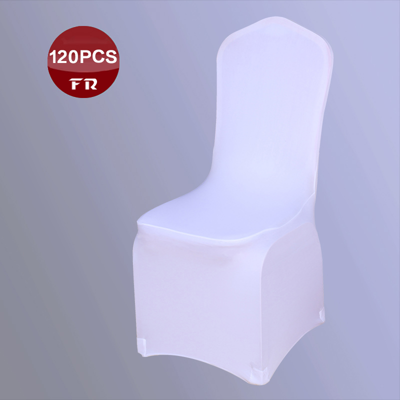 Shipping FREE 120PC Stretch Chaircovers Dining Chair Cover of Weddings Universal Lycral Polyester Chair Covers for Banquet Party(China (Mainland))