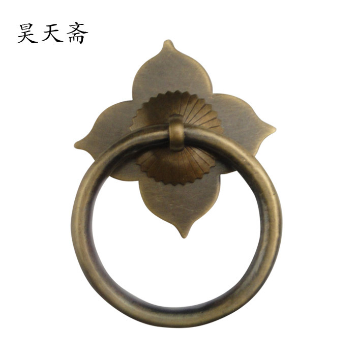 [Haotian vegetarian] Chinese antique door handle classic ring handle HTA-112 floral sections Wallflower<br><br>Aliexpress
