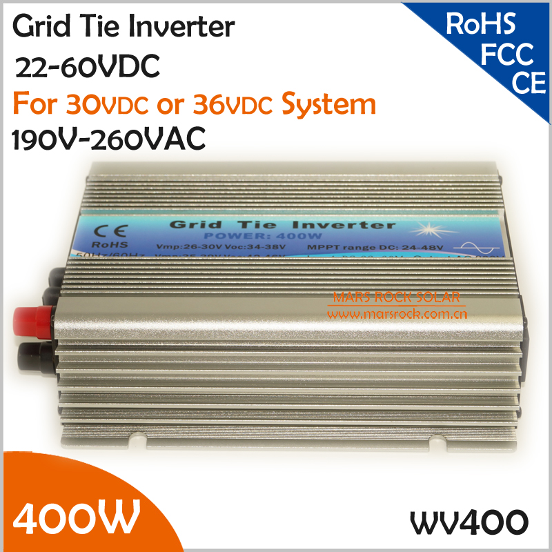 400W DC22V~60V AC 190-260V Wide DC Input Grid Tie Micro Inverter for Small 500W Solar or Wind Power System(China (Mainland))
