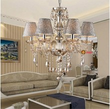 Shipping !  Modern K9 Crystal Chandelier Fixture Lighting 6lights  hot selling ,Luxury fashion    S09(China (Mainland))