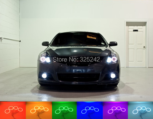 For Nissan Altima Coupe 2010 2011 2012 2013 Excellent Angel Eyes kit Multi-Color Ultrabright RGB LED Angel Eyes Halo Rings(China (Mainland))