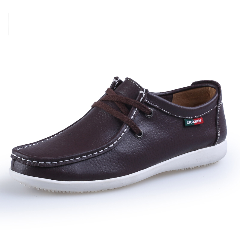 2014 new best quality genuine leather flat shoes