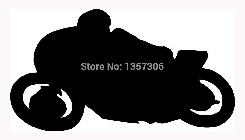 Hot Sale Motorcycle Sticker Car Window Truck Bumper Auto SUV Door Laptop Kayak Vinyl Decal 8 Colors(China (Mainland))