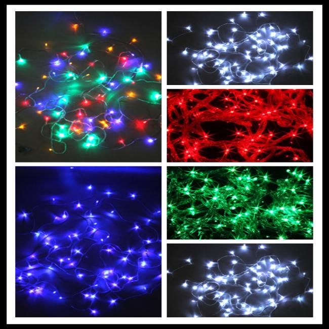 Led Christmas Lights Half String Dim : Christmas Fairy String LED Light 10m String Curtain 100 LED 110V/220V Holiday Strings Multicolor ...