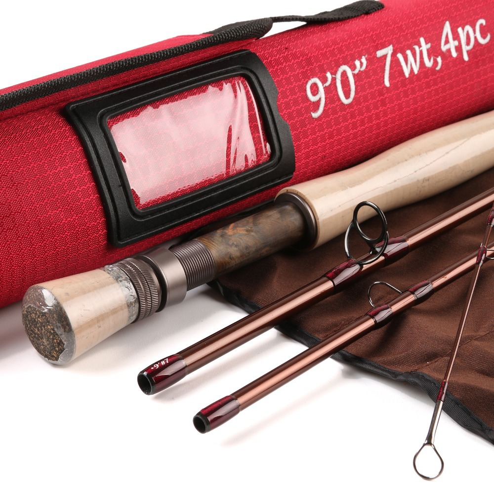 FREE SHIPPING Fly Fishing Rod 40T SK Carbon Fiber 9FT 7WT 4PCS Carbon Fly Rod With Cordura Tube Fly Rod(China (Mainland))