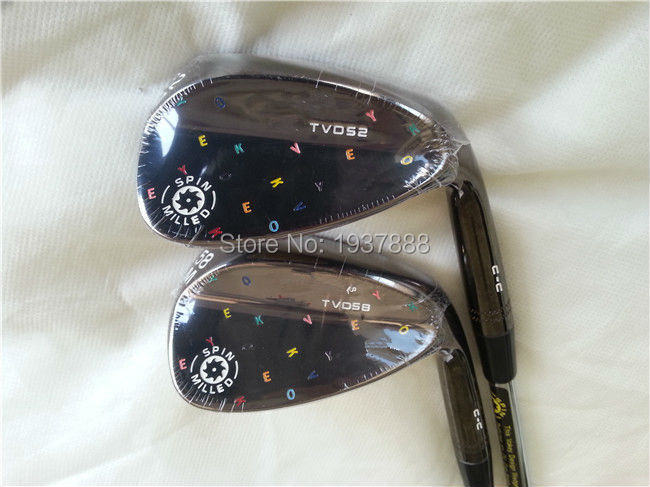 """Limited TVD C-C Wedges OEM TVD C-C Golf Clubs TVD Golf Wedges 52""""/58"""" Degree R/S-Flex Steel Shaft With Head Cover(China (Mainland))"""