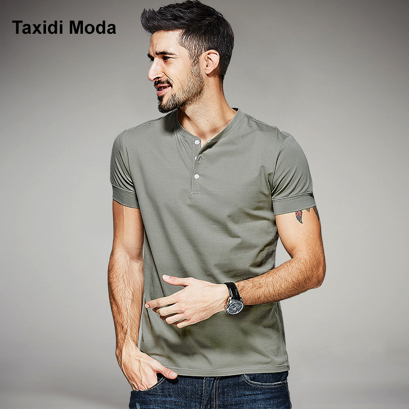 2017 Summer Mens Casual T-Shirts Gray Green Black White Brand Clothing Man's Short Sleeve Slim Fit Clothes Male Wear Tops Tees(China (Mainland))