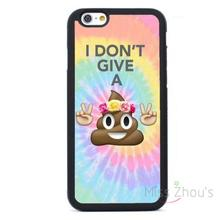 For iphone 4/4s 5/5s 5c SE 6/6s plus ipod touch 4/5/6 back skins mobile cellphone cases cover Emoji Poop
