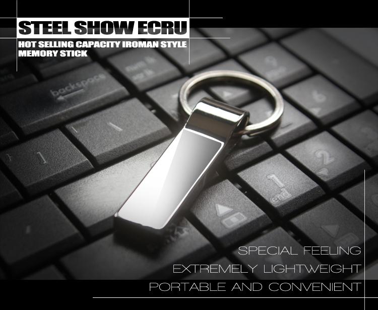Metal Steel Ring USB Stick USB flash drive pen drive 128MB/8GB/16GB/32GB/64GB memory stick external storage pendrive free ship(China (Mainland))