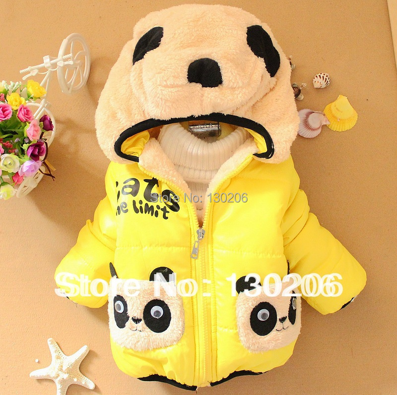 Boys and girls fashion cute kids winter coat 2015 new styles jackets double pocket lovely children's clothing()