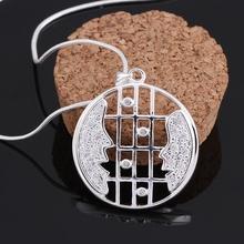 newest popular fashion necklace high quality beauutiful crystal jewlery 925 sterling silver necklace ashion vintage jewlery