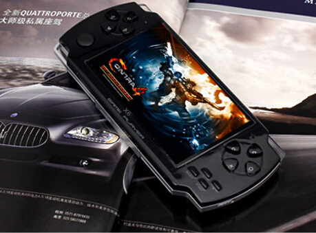 32bit (50 PCS)COOL BOY X6 game/console hand / 4 GB memory/built - in game camera / 1000 game /Support to download(China (Mainland))