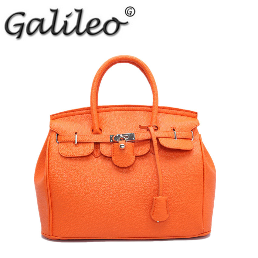 Women sac messager leather Shoulder Bag Desigual Vintage Satchel Bolsas Femininas female Famous Brand tote Orange bag(China (Mainland))
