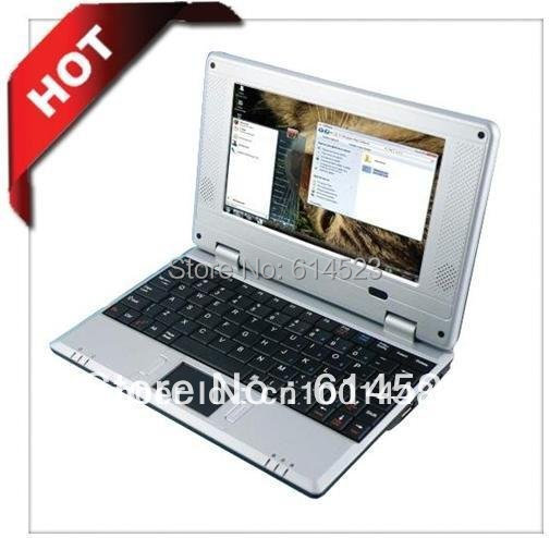 7 inch Portugal keyboard Mini Netbook Laptop Notebook with WIFI Windows CE 6.0/Android 2.2 4GB HD free shipping(China (Mainland))