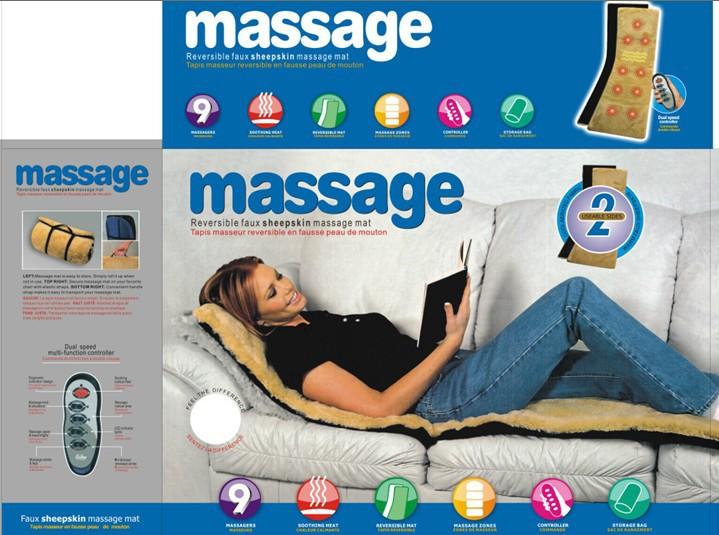 Multi-function heat according to the vibration massage cushion folding neck lumbar spine massager massage mattress(China (Mainland))