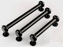 Black Kitchen Cabinet Handle Drawer Pull Handles Dresser Pulls / Retro Rustic Furniture Cupboard Hardware Extra Large Modern (China (Mainland))